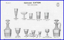 Baccarat St Louis Caton 6 Verres A Eau Cotes Plates Catalogue 1916