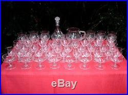 Baccarat St Louis Set Crystal Glasses Service De Verre Cristal Gravé Art Deco Aa