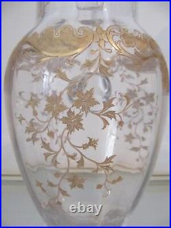 Beau pichet cristal Saint Louis Massenet Or Saint Louis Crystal pitcher