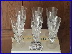 Belle Serie De 6 Verres Flutes A Champagne Cristal De Saint Louis Mod. Guernesey
