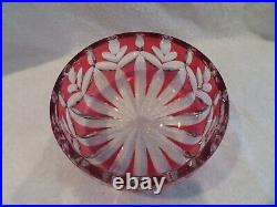 Belle coupe saladier cristal Saint Louis overlay rubis (french crystal bowl)