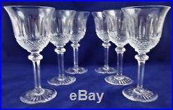 Belle suite de 6 verres à eau cristal de Saint LOUIS Tommy 18,3 cm réf A19/3