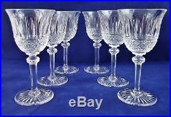 Belle suite de 6 verres à vin rouge cristal de Saint LOUIS Tommy 17 cm réfA19/3