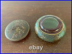 Boite à bijoux givrée en cristal de Saint Louis