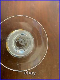 Bougeoirs en cristal de Saint Louis