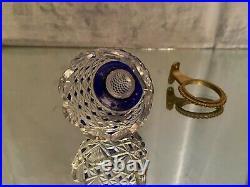 Bouquetière vase de voiture en cristal taillé et teinté Saint Louis Baccarat
