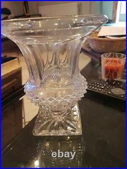 CRISTAL SAINT LOUIS vase ancien tampon grave