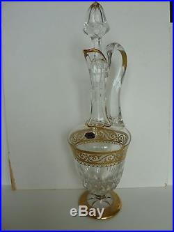 Carafe Saint louis modèle STELLA pattern handled wine decanter