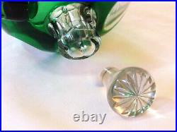 Carafe à Liqueur art-déco en cristal overlay de Saint Louis