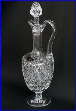 Carafe à vin, aiguière en cristal de Saint-Louis. Etat Neuf. Modèle Florence