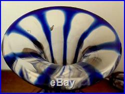 Carafe cristal bleu Saint Louis Baccarat Val St. Lambert Bohème, vin décanter