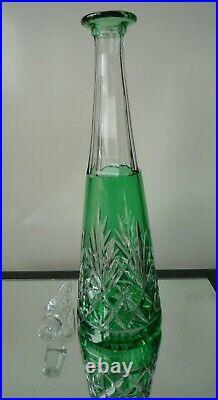 Carafe cristal taillé doublé Saint-Louis