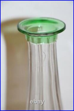 Carafe en cristal doublé vert saint louis