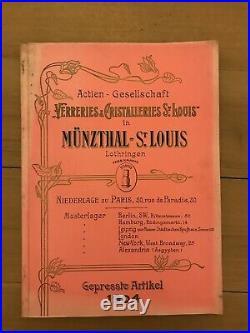 Catalogue Verreries et Cristalleries Saint Louis 1904. Hermes