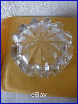 Cendrier en cristal de Saint Louis France modele ambassadeur vide poche deco