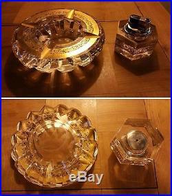 Cendrier et Briquet en cristal de Saint Louis série Thistle