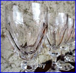Chambord 6 (+1) verres à vin de Bordeaux en cristal de Saint Louis n°4