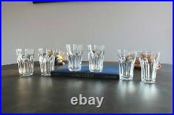 Chambord, cristal Saint Louis. 6 verres / chopes. Estampillés. H12,4cm