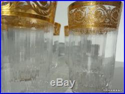 Chope à Orangeade 12cm en Saint St Louis Cristal Thistle Or signé parfait état