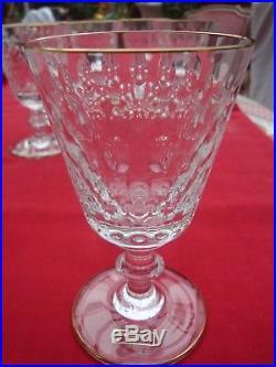 Cléopatre Cristal Saint Louis décoré d'un filet d'or fin au col et au pied