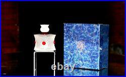 Collection Eau de Saint-Louis. Flacon en cristal satiné, décor de rubis (écrin)