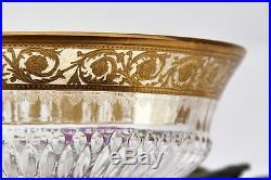 Coupe à dessert à piédouche en cristal de Saint Louis modèle Thistle Or