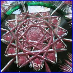 Coupe centre de table en cristal de saint louis modèle richement taillé