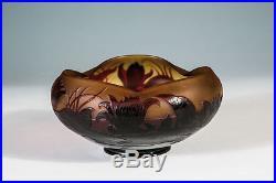 Coupe en cristal, création de Paul Nicolas, signé d'Argental pour Saint Louis