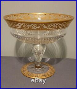 Coupe sur pieds Thistle en cristal Saint Louis. /. Cup on feet Thistle gold