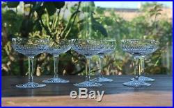 Cristal Saint Louis Colibri 6 coupes à Champane Champagne Sherbet Glasses