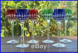 Cristal Saint Louis Manhattan 6 Verres à vin du Rhin Roemer 6 Rhine wine glass