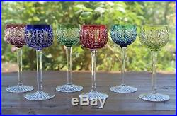 Cristal Saint Louis Riesling 5+1 Verres à vin du Rhin Roemer Rhine wine glasses