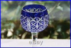 cristal saint louis roemer 6 verres vin du rhin carafe riesling bleu verres cristal st louis. Black Bedroom Furniture Sets. Home Design Ideas