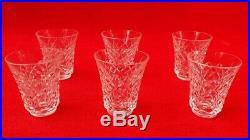 Cristal Saint Louis Service à shot Carafe décanter + 6 verres Liqueur Whisky