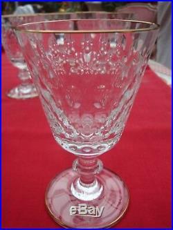 Cristal Saint Louis pour Hermès modèle Cléopâtre 6 verres dorés à l'or fin