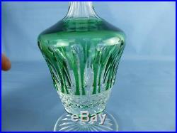 Cristal de SAINT-LOUIS carafe à liqueur vert modèle TOMMY H 25,5 cm, 24 cl