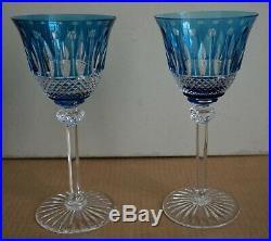 Cristal de Saint-Louis Lot de 2 Verres à vin Tommy Roemer bleu clair