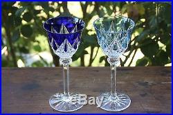 Cristal doublé couleur Saint Louis Sammy 6 Verres à vin du Rhin Roemers