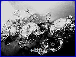 Cristallerie SAINT LOUIS Service Taste Vin // Coupelles à Desserts Estampillés