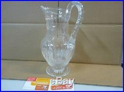 Cruche Carafe Saint Louis Modèle Tommy en cristal taillé Estampillé
