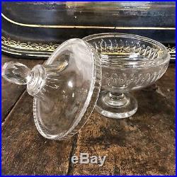Drageoir Cristal Saint St Louis Baccarat XIXeme Napoléon III Ancien Coupe Boite