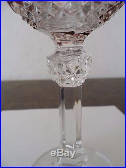 Exceptionnel Lot 6 Verre Roemer Cristal Double Baccarat Saint Louis Bohème