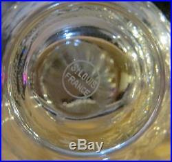 Ensemble carafe à vin et broc à eau st louis cristal
