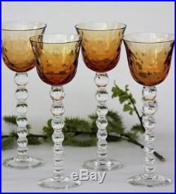 Ensemble de 4 verres à vin du Rhin Roemer en cristal de St Louis modèle Bubbles