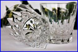 Ensemble de 5 verres à whisky en cristal de St Louis modèle Provence
