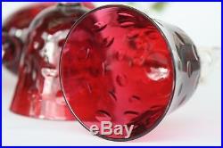 Ensemble de 6 verres à vin du Rhin Roemer en cristal de St Louis modèle Bubbles