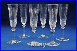 Ensemble de flûtes à champagne en cristal de St Louis modèle Tommy