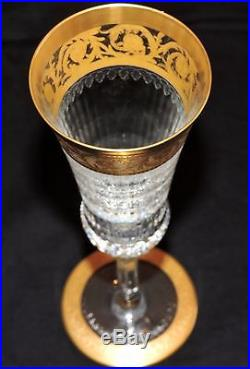Flute A Champagne En Cristal De St Louis Thistle Or En Parfait Etat