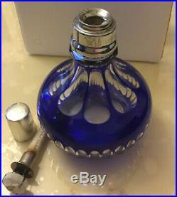 Flacon Et Lampe De Berger Cristal St Louis Bleu