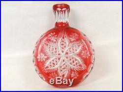 Gourde en cristal Saint-Louis Rosace Vase 19e